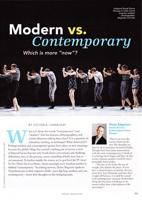 Dance Magazine 2012 | Modern vs. Contemporary Ft. Jennifer Archibald