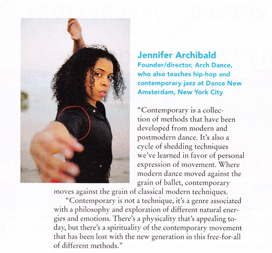 Dance Magazine (Dec 2012) | Jennifer Archibald