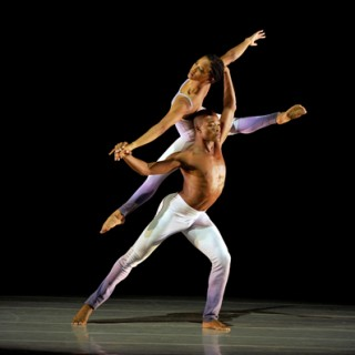 Ailey II's Jacquelin Harris and David Adrian Freeland Jr. in Jennifer Archibald's Wings. Photo by Eduardo Patino